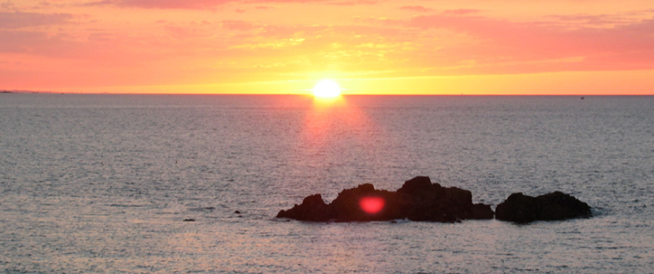 Sonnenuntergang am Cap Fréhel.
